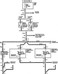 Acura SLX - wiring diagram - stop lamp