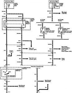 Acura SLX - wiring diagram - trailer /camper adapter (part 1)