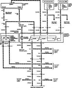 Acura SLX - wiring diagram - trailer /camper adapter (part 2)