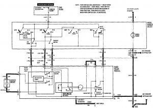 Acura SLX - wiring diagram - wiper/washer
