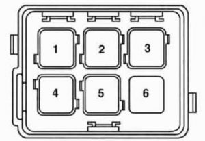 BMW 525i - wiring diagram - fuse box -  auxiliary relay box