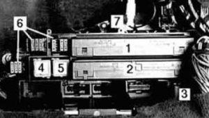 BMW 525i - wiring diagram - fuse box -  rear power distribution box