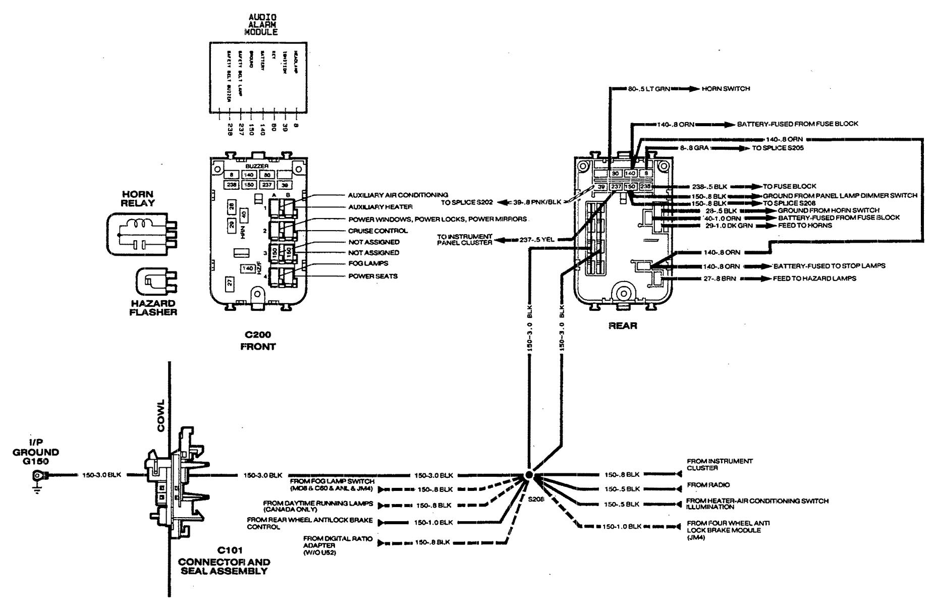 chevrolet astro 1990 wiring diagrams fuse box For a 1995 Astro Van Fuse Box  Diagram Astro