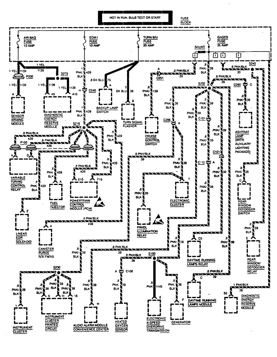 Astro Wiring Diagram Trusted 94 Van Fuse Chevrolet 1994 Diagrams Box Carknowledge 1993 Electrical