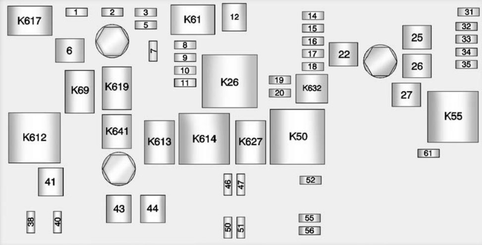 chevrolet camaro  2014  u2013 2015   u2013 fuse box diagram