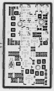 Chevrolet Orlando - wiring diagram - fuse box - engine compartment