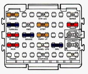 Chevrolet Suburban -  wiring diagram - fuse box