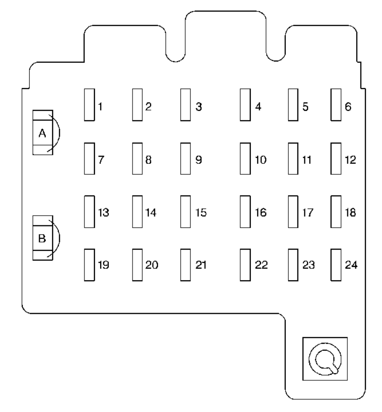 [DIAGRAM_09CH]  Chevrolet Suburban (1999) – fuse box diagram - Carknowledge.info | 1999 Oldsmobile Cutl Fuse Box Diagram |  | Carknowledge.info