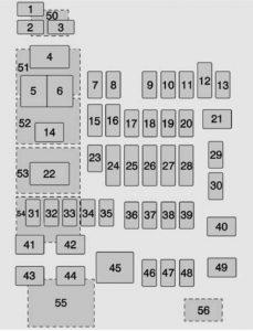 Chevrolet Suburban -  wiring diagram - fuse box - instrument panel fuse block (left)