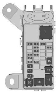 Chevrolet Suburban -  wiring diagram - fuse box - rear compartment