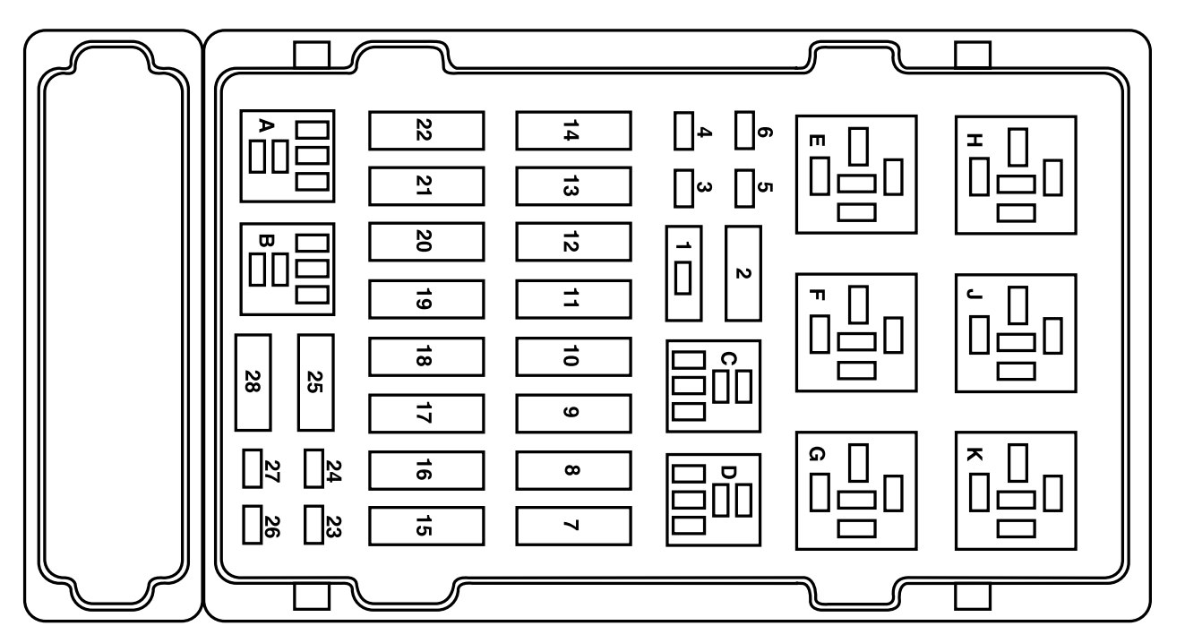 Ford E250  2004         fuse    box    diagram     CARKNOWLEDGE