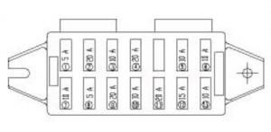 Yuchai Minitractor YC25-8 - fuse box diagram