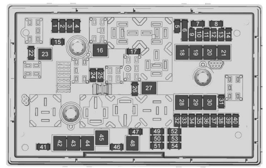 Buick Cascada  2018   U2013 Fuse Box Diagram