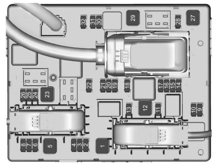 Buick Cascada  2016  U2013 2017   U2013 Fuse Box Diagram