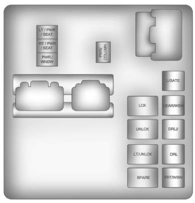 BUICK Enclave (2011 – 2012) – fuse box diagram - CARKNOWLEDGE