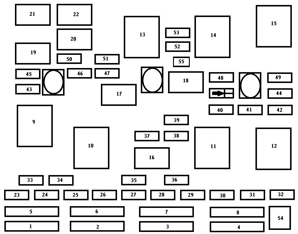 Chevrolet Malibu  1997  U2013 1999   U2013 Fuse Box Diagram