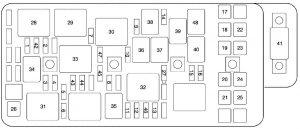 chevrolet malibu - wiring diagram - fuse box diagram - engine compartment