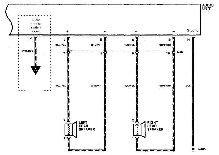 Acura Cl  1998 - 1999  - Wiring Diagrams - Audio