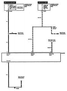 Acura CL - wiring diagram - clock