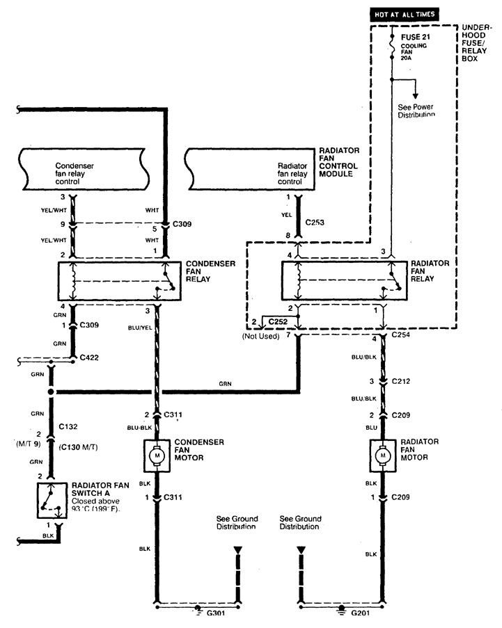 Acura CL (1998 - 1999) - wiring diagrams - cooling fans - Carknowledge.info | 98 Acura Cl Wiring Diagram |  | Carknowledge.info
