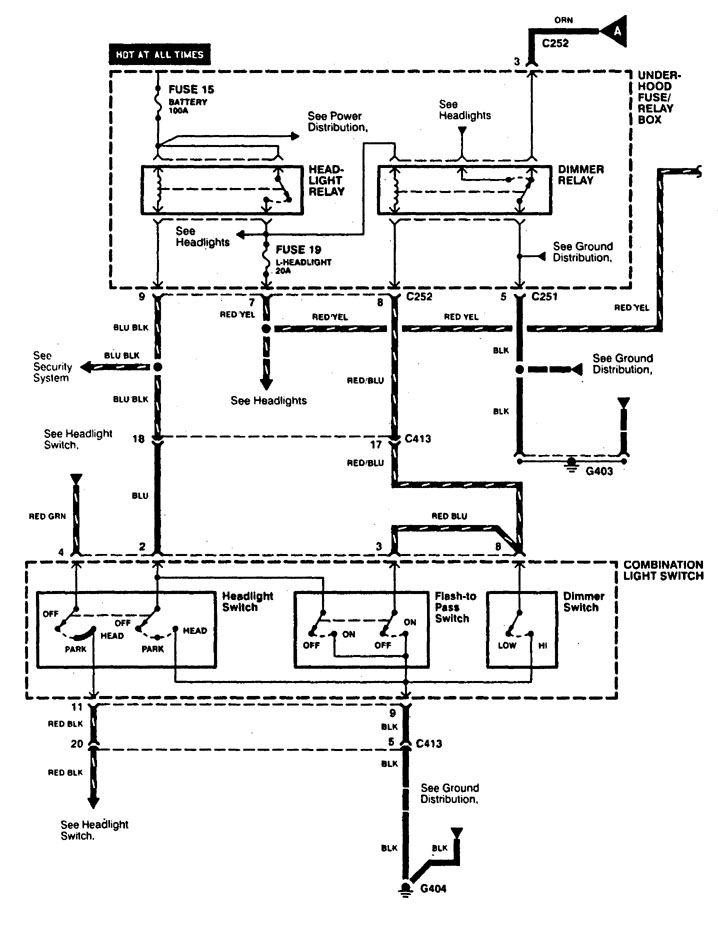 Acura Cl  1997 - 1999  - Wiring Diagrams