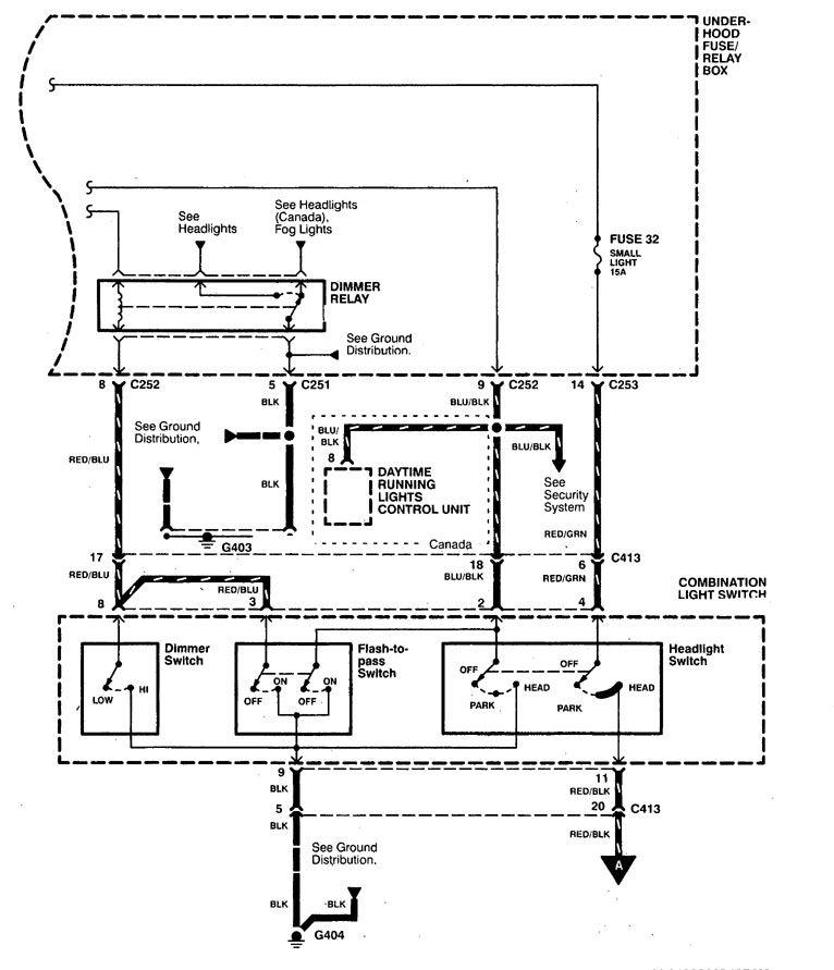 [SODI_2457]   Acura CL (1998 - 1999) - wiring diagrams - headlamp switch -  Carknowledge.info   98 Acura Cl Wiring Diagram      Carknowledge.info