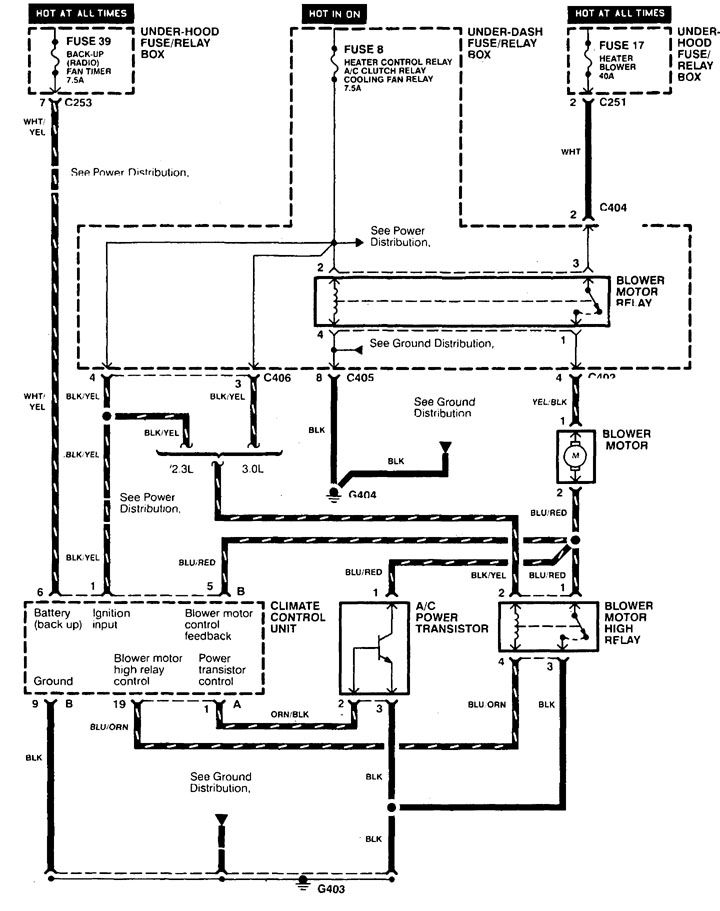 Acura CL (1998 - 1999) - wiring diagrams - heater - Carknowledge.info | 98 Acura Cl Wiring Diagram |  | Carknowledge.info