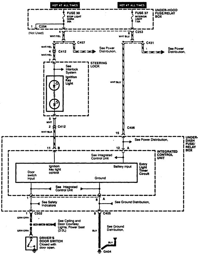 Acura CL (1997) - wiring diagrams - illuminated entry ...