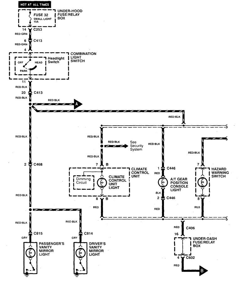 [SCHEMATICS_4HG]  Acura CL (1998 - 1999) - wiring diagrams - instrument panel lamp -  Carknowledge.info   98 Acura Cl Wiring Diagram      Carknowledge.info