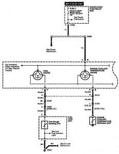 Acura CL - wiring diagram instrumentation (part 1)