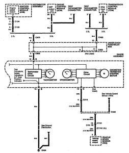 Acura CL - wiring diagram instrumentation (part 2)