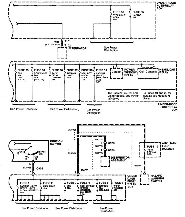 [XOTG_4463]  Acura CL (1998 - 1999) - wiring diagrams - power distribution -  Carknowledge.info | 1998 Acura Cl Wiring Diagram |  | Carknowledge.info