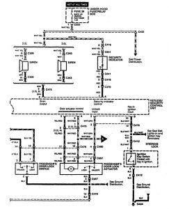 Acura CL - wiring diagram - power locks (part 2)