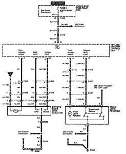 Acura CL - wiring diagram - power locks (part 3)
