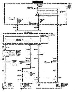 Acura CL - wiring diagram - power locks (part 4)