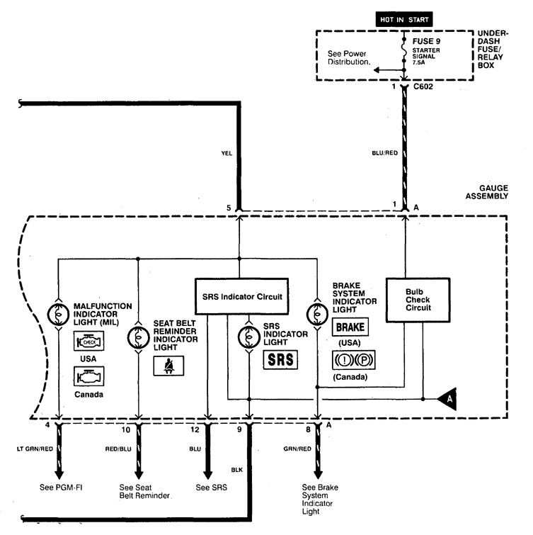 [WLLP_2054]   Acura CL (1998 - 1999) - wiring diagrams - warning indicators -  Carknowledge.info   98 Acura Cl Wiring Diagram      Carknowledge.info