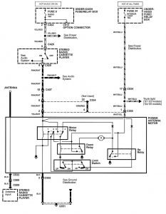 Acura NSX - wiring diagram - antenna