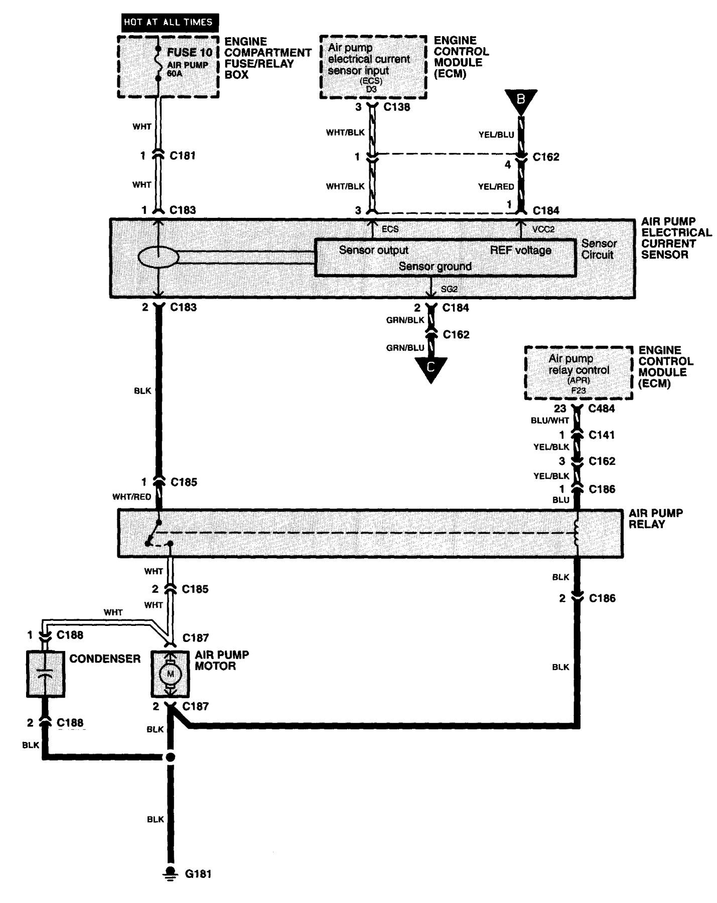 Acura NSX (1997 - 2005) - wiring diagrams - fuel controls ... on