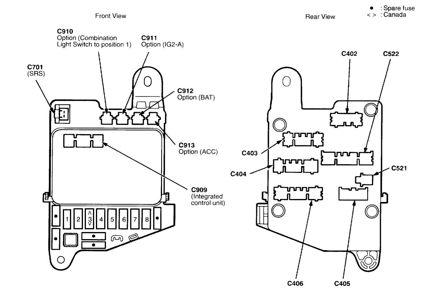 Acura Nsx  1997 - 2004  - Wiring Diagrams