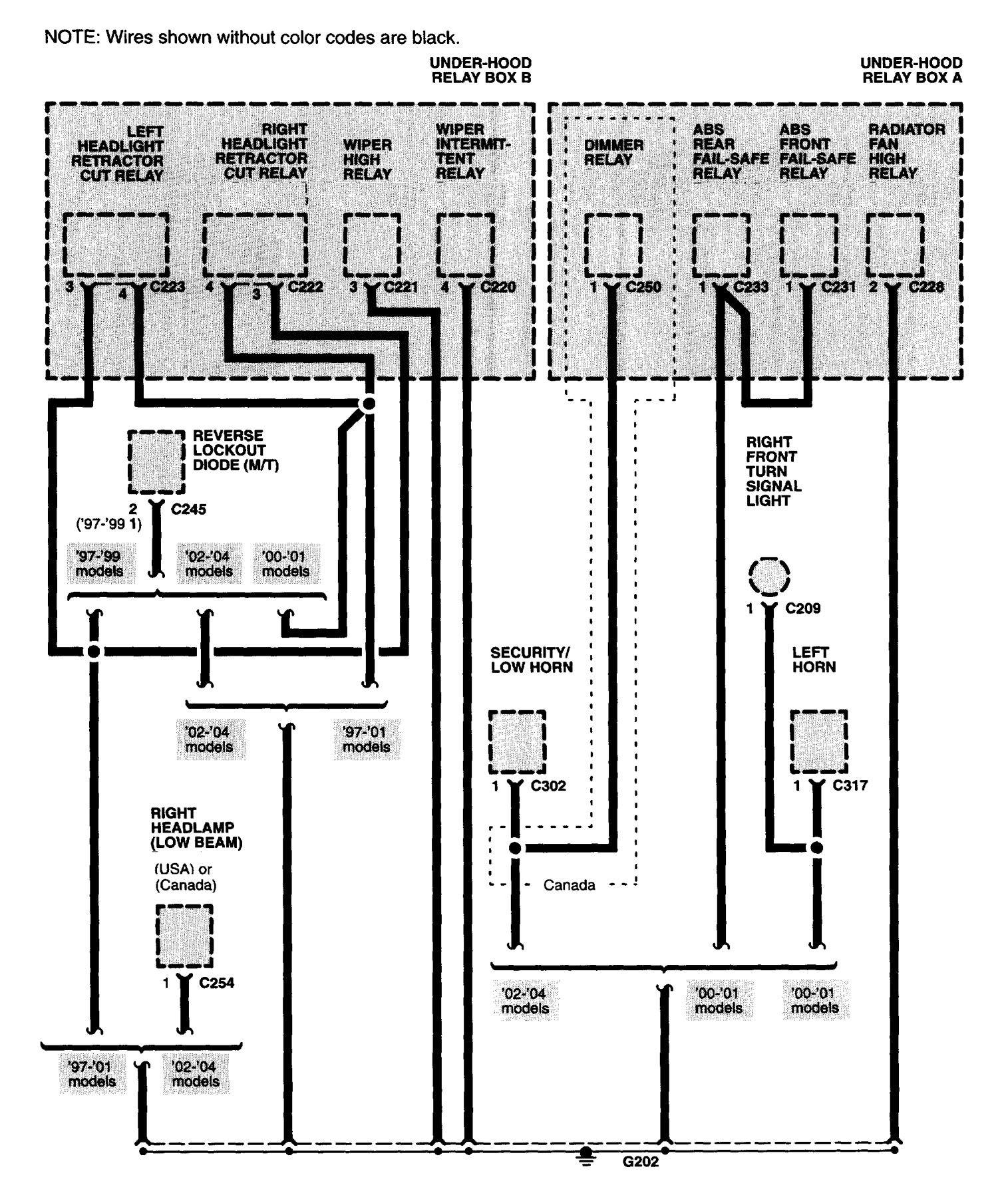 Acura Nsx 1997 2004 Wiring Diagrams Grand Distribution Diagram