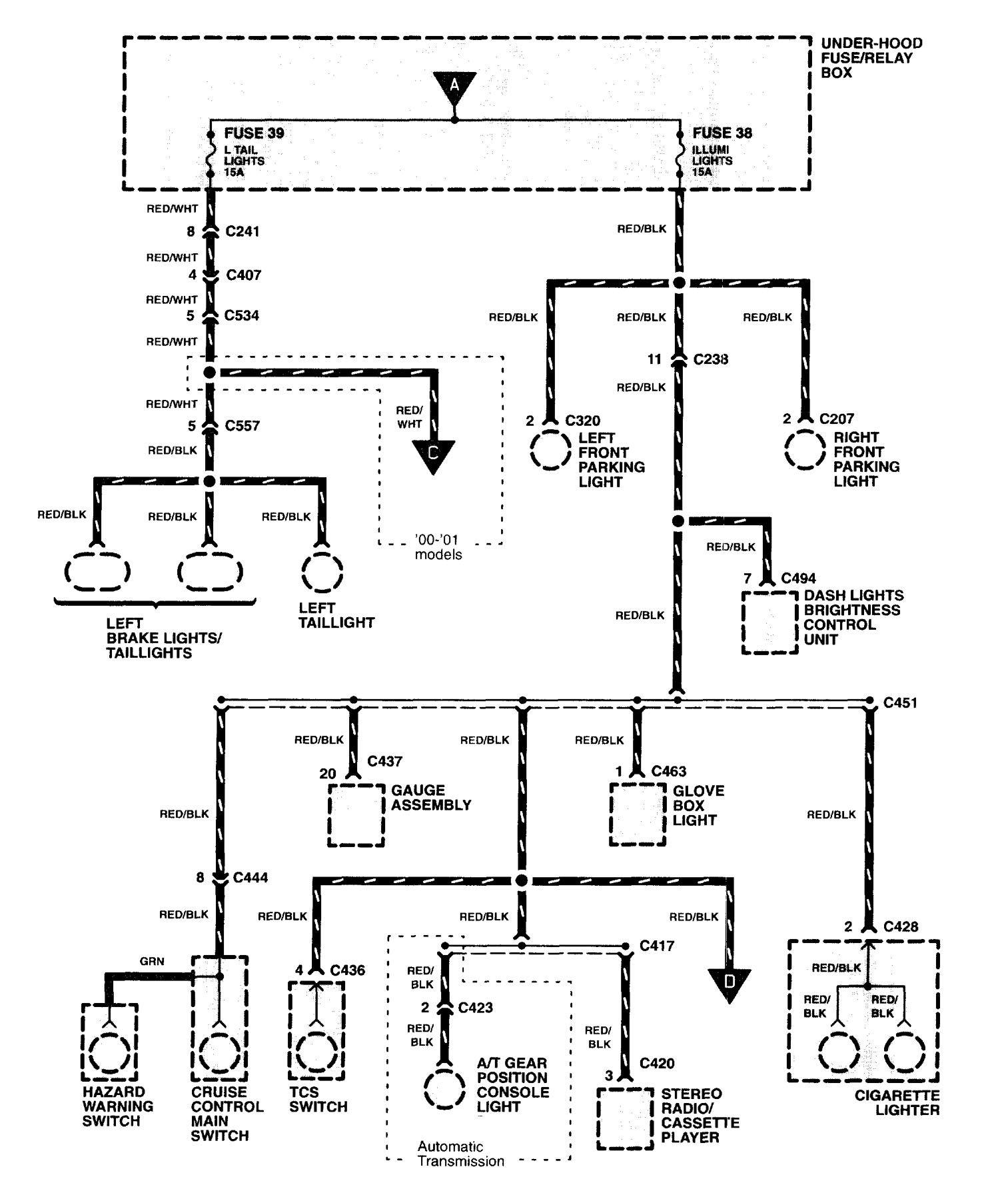 Acura Nsx 1997 2004 Wiring Diagrams Headlamp Switch Diagram