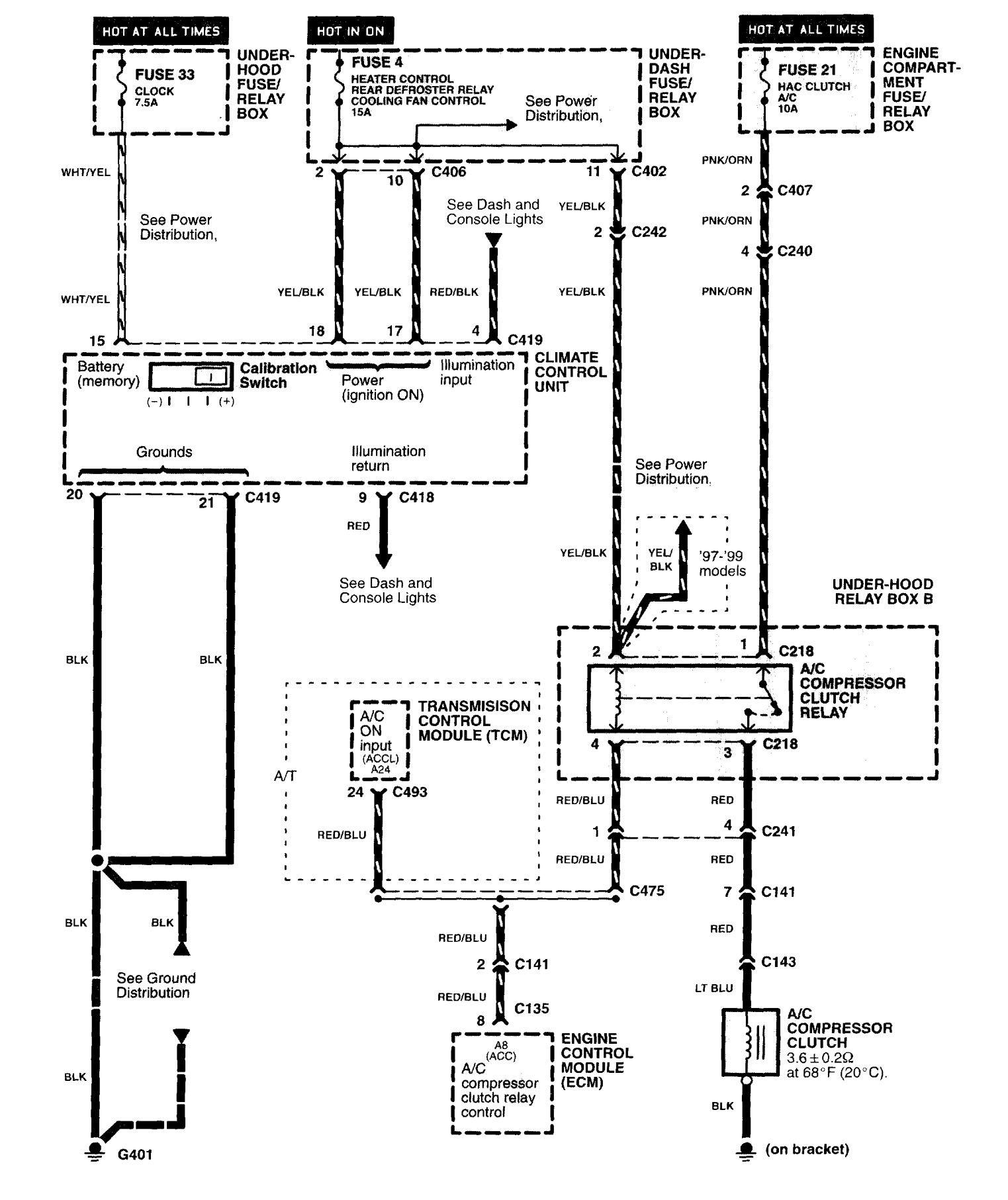 Acura NSX (1997 - 2004) - wiring diagrams - HVAC Controls -  Carknowledge.info | Acura Nsx Wiring Diagram |  | Carknowledge.info