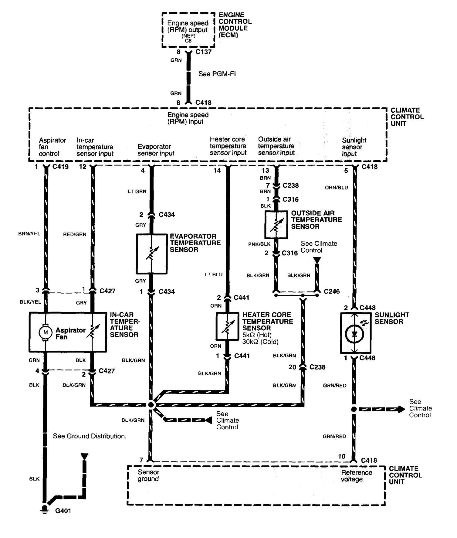 Acura Nsx 1997 2004 Wiring Diagrams Hvac Controls Carknowledge Diagram
