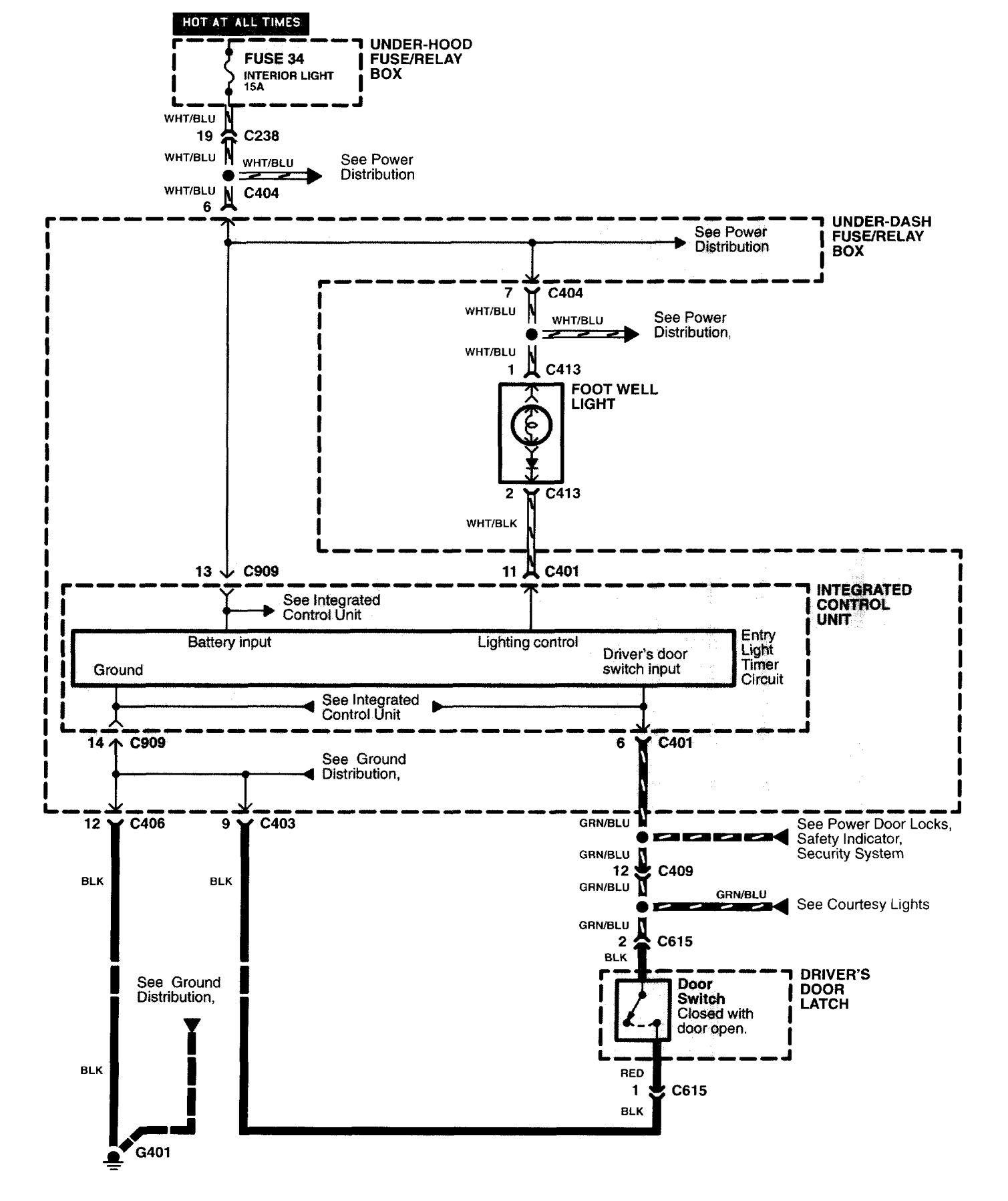 Acura NSX 1997 2004 wiring diagrams illuminated