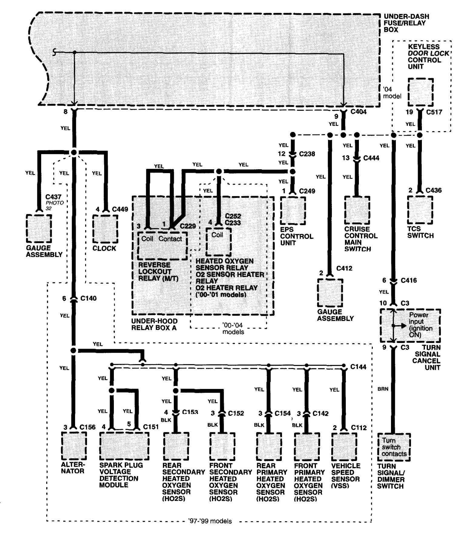 Acura NSX (1997 - 2004) - wiring diagrams - power distribution ...