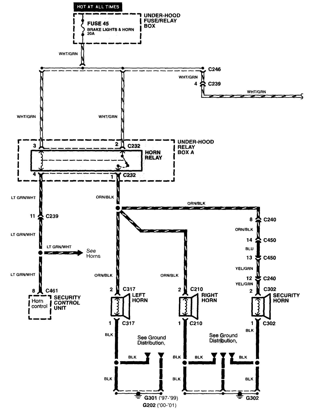 Acura Nsx 1997 2004 Wiring Diagrams Security Anti Theft Diagram