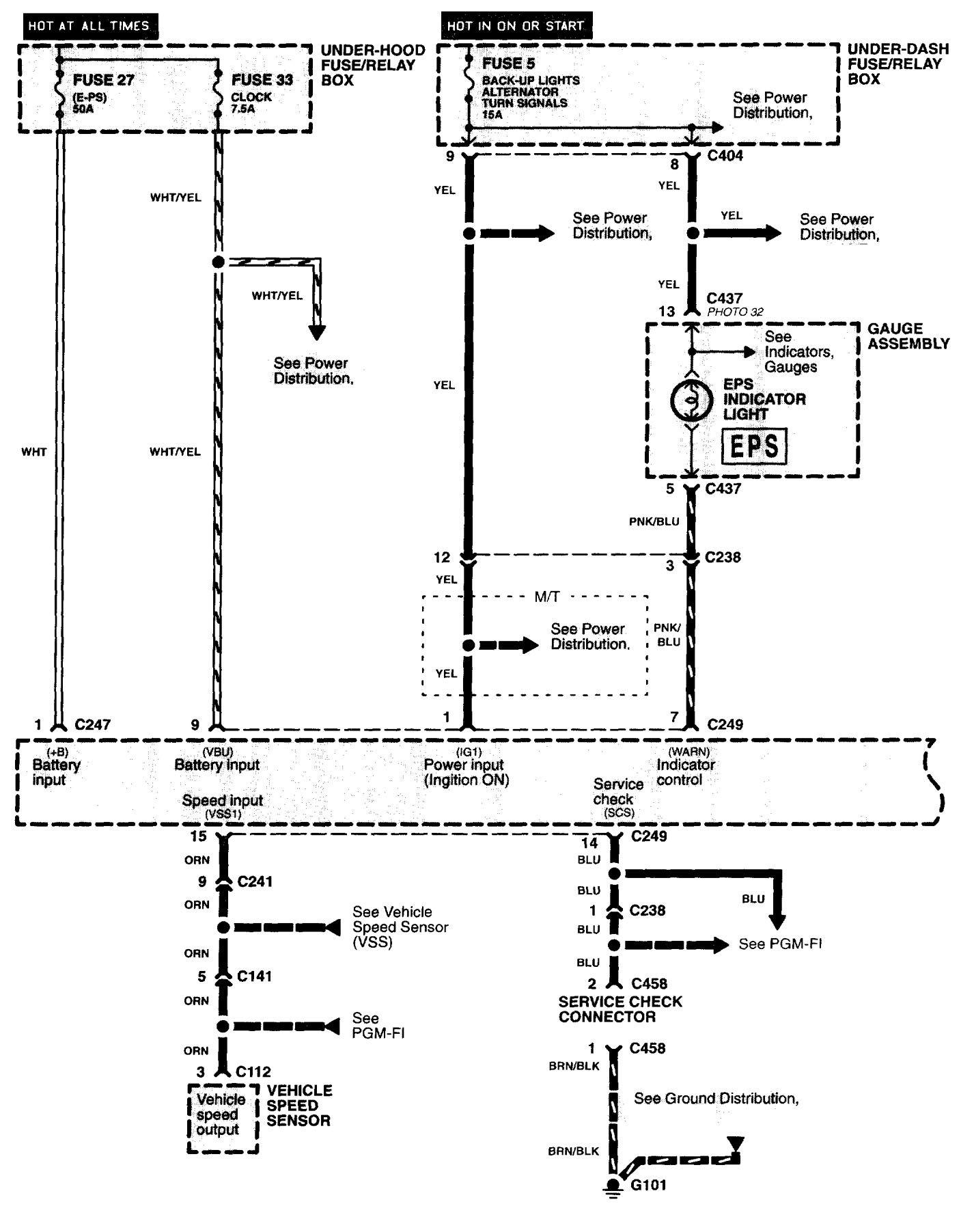 Acura Nsx 1997 2004 Wiring Diagrams Steering Controls Diagram