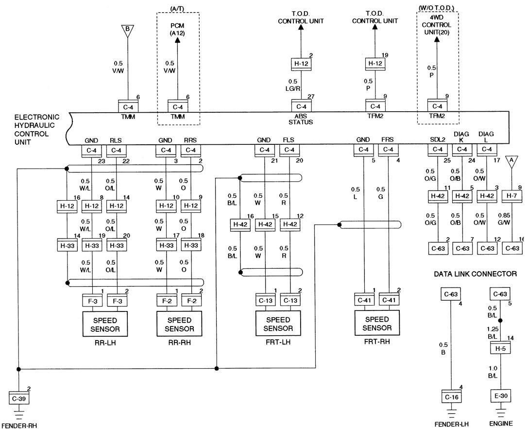 Acura Slx 1998 1999 Wiring Diagrams Brake Controls