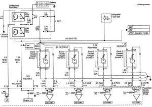 Acura SLX - wiring diagram - fuse control (part 5)