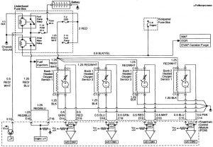 Acura SLX - wiring diagram - fuse control (part 6)